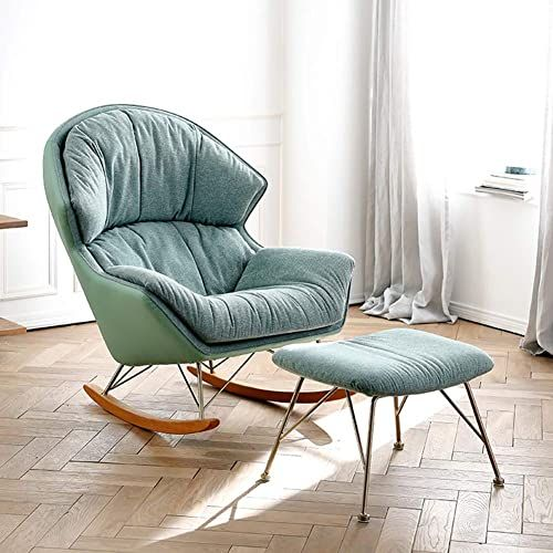 New Pig Middle I Nordic Rocking Chair Comfortable Relax Recliner Soft Ottoman Footrest Simple Modern Living Room Balcony Lounge Sofa Size B Online Prett In 2020 Foot Rest Ottoman