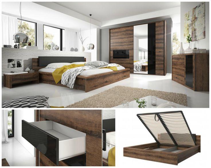An exclusive set of bedroom Indira furniture is combining the modern style from elegant. SALE%%%% Ekskluzywny zestaw mebli sypialnianych Indira to połączenie stylu nowoczesnego z eleganckim.   PROMOCJA%%% #bed #bedroom #wardrobe #helvetia #sale #mirjan24 #promotion #design