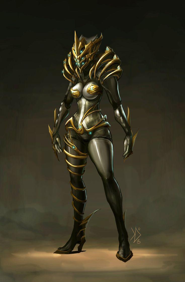 Warframe Saryn Prime Concept Art by kewminus on DeviantArt