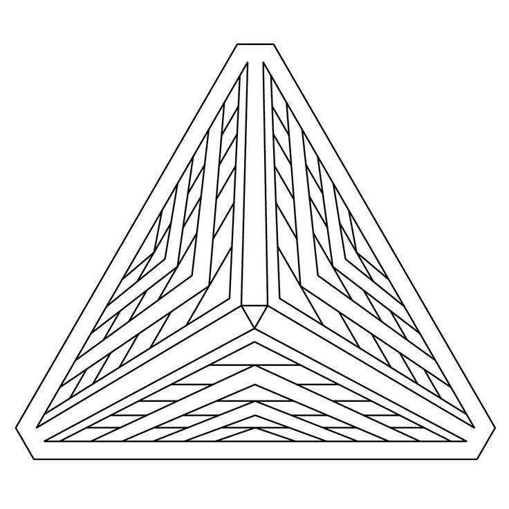 Geometry Coloring Page, Pyramid 3