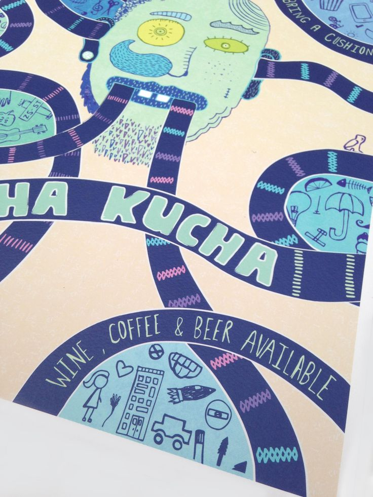 PECHA KUCHA POSTER ILLUSTRATION BY ROCHELLE ODENDAAL