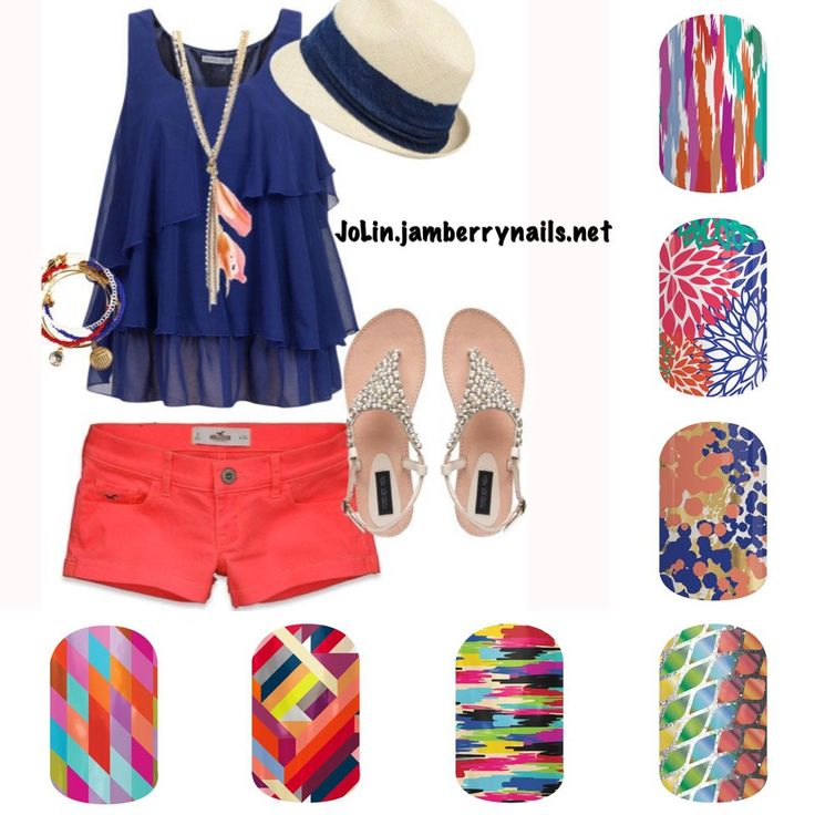 Summer spring 2015 pick your jam Jamberry nails manicure Jamicure fashion style