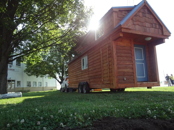 Our first home! <3 <3 <3 Find us at the Marion County Fair this week, and this weekend at the Fishers Freedom Fest. We love showing people around our home and hearing about what you would do with a tiny home of your own.