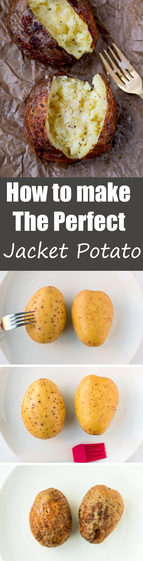 HOW TO MAKE a BAKED POTATO - crunchy, crisp skin with a light and fluffy interior - add plenty of butter for the perfect jacket potato!