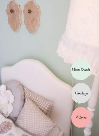 Mooie zachte kleuren voor een mooie meidenkamer!