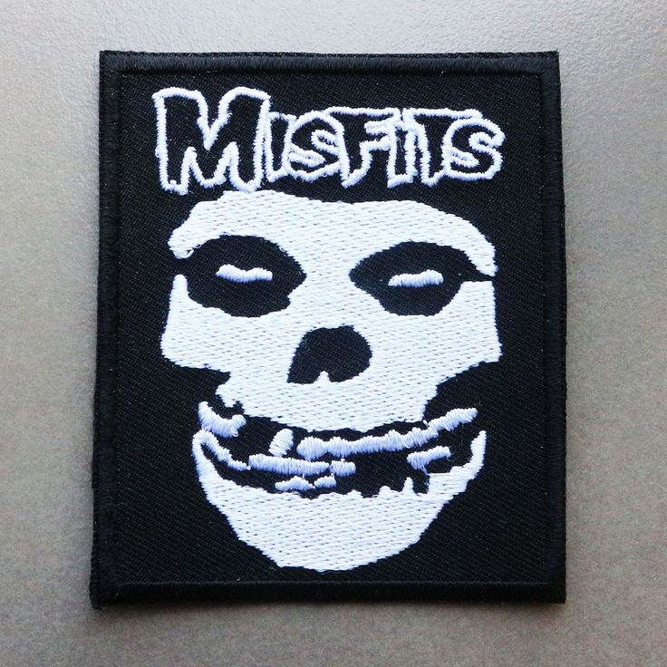 Misfits Punk Rock Band Heavy Metal Logo Jacket Embroidered Iron On Patch  #Unbranded