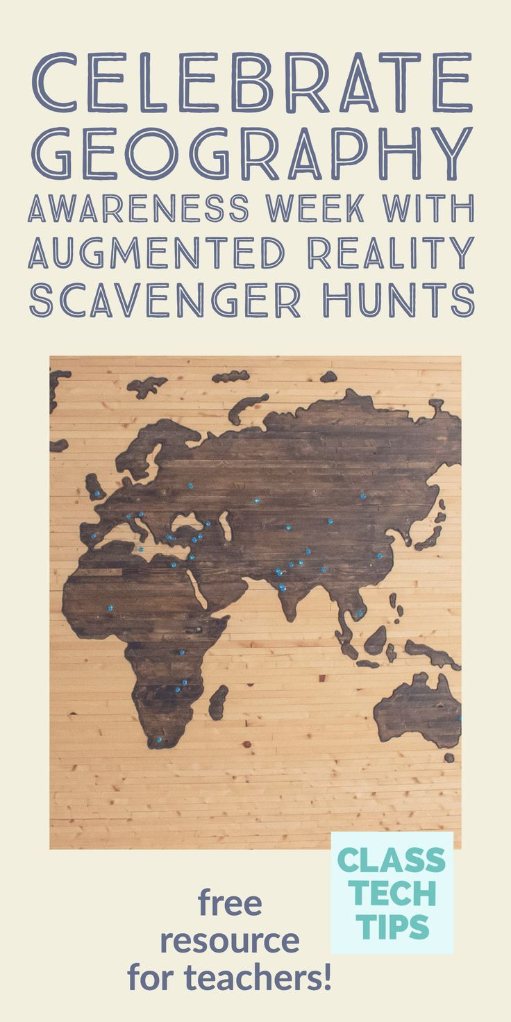 Help Students Learn Geography with an Augmented Reality Scavenger Hunt
