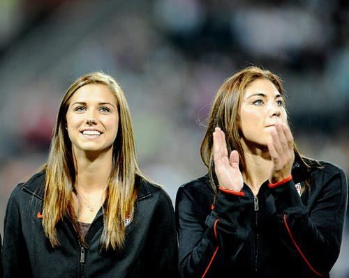 Alex Morgan, Hope Solo. (Alex Morgan/Facebook)