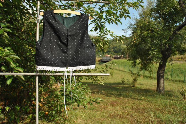 a black vest