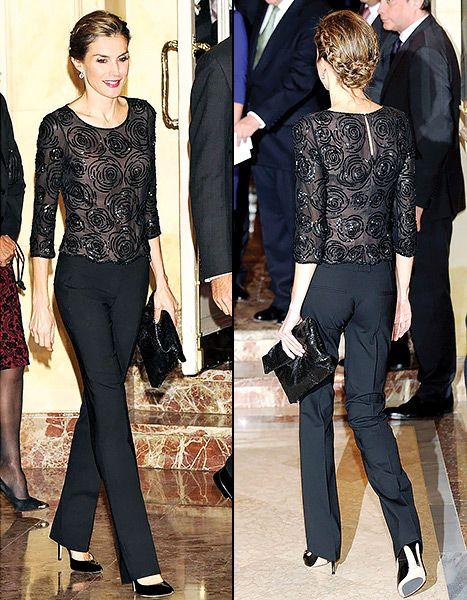 Queen Letizia of Spain joined her husband King Felipe at the Francisco Cerecedo Journalism Awards 2014.
