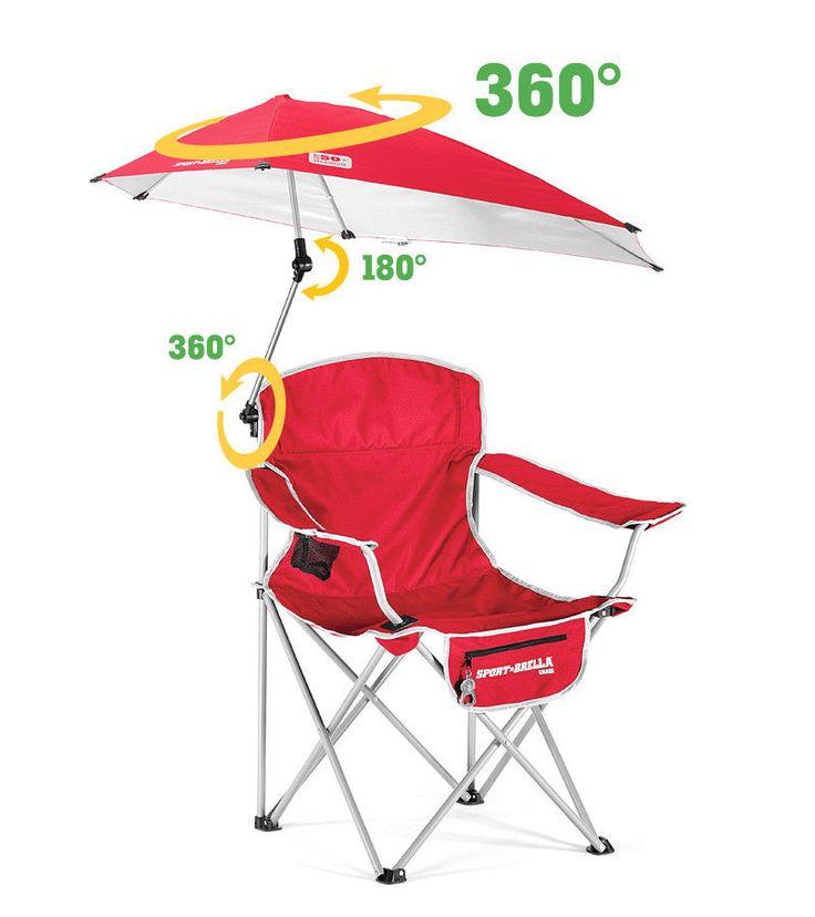 Outdoor Recliner Chair Umbrella Canopy Garden C&ing Seat Sport- Golf Brella  sc 1 st  Pinterest & 25 best Aluminum Beach Chairs - Reclining Backpack Lightweight ... islam-shia.org
