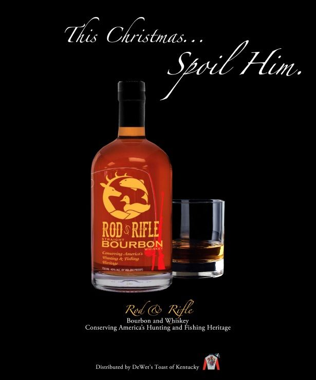 This Christmas, Spoil Him with Rod & Rifle Bourbon & Whiskey. #spoilhim #christmas #Kentucky #Bourbon #Whiskey #gifts #sip #ontherocks
