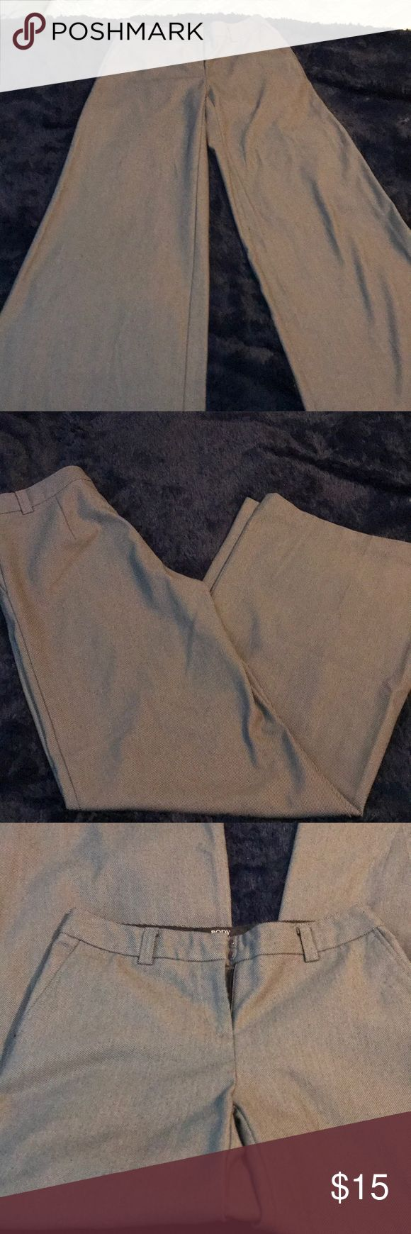 """Women's wide leg dress pants black and gray 2 tall Women's dress pants with wide leg Marisa Fit. Size 2 tall. Inseam is 32"""" Body by Victoria - Victoria's Secret. Body by Victoria Pants Trousers"""