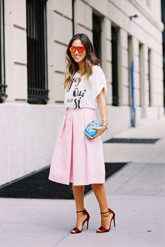 Um charme de rosa #StreetStyle