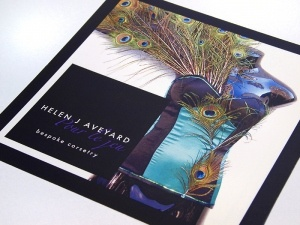 Helen Aveyard Bespoke Corsetry Leaflet Design