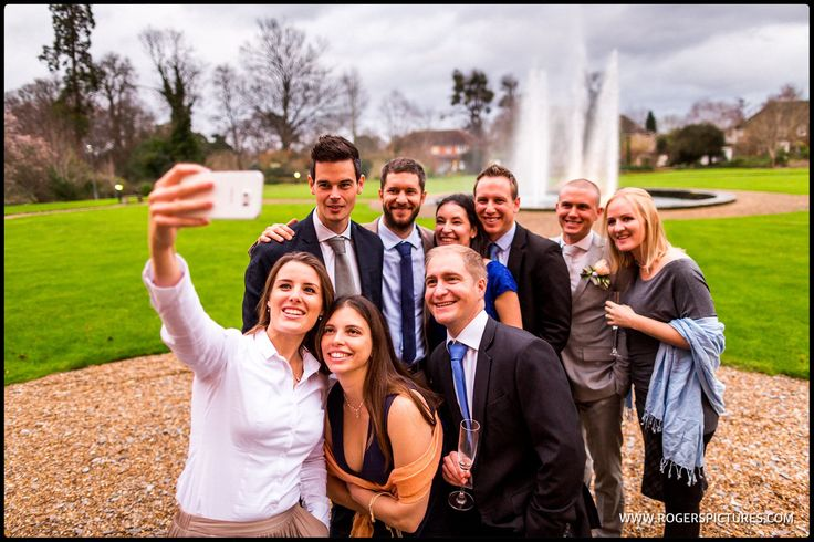 Fountain selfie at Fetcham Park in Surrey -