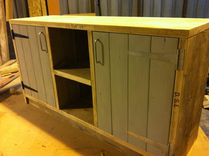 Reclaimed Scaffold Board 2 door Sideboard