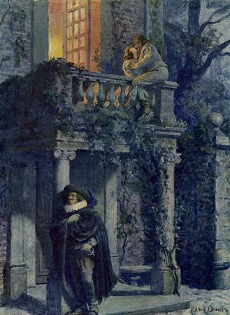 Cyrano de Bergerac wooing his beloved Roxanne through her favorite, Christian - by Anonymous