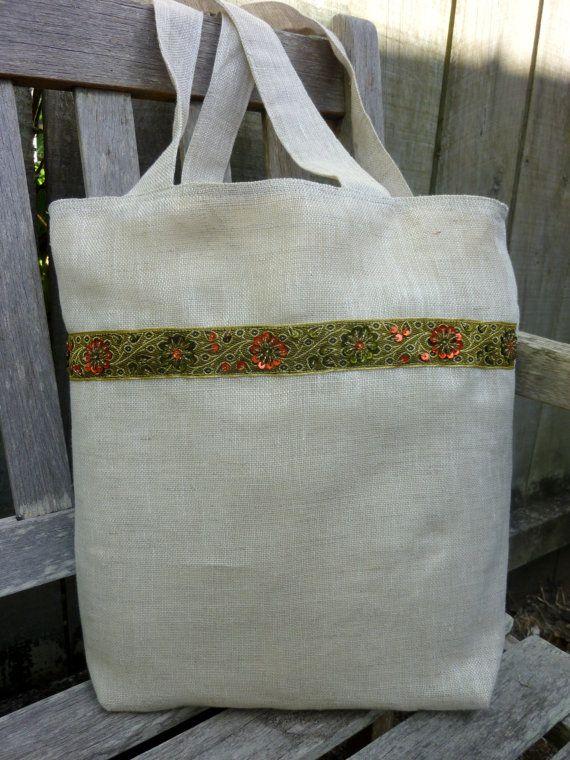SOLD - Hukara Linen Tote Bag