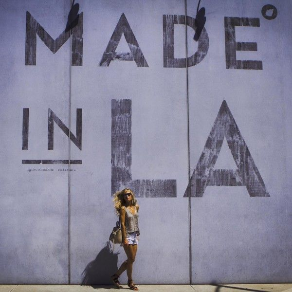 Made in LA Wall, Cisco Home: Melrose + N. Laurel - Whether or not you were born and bred here or just visiting, snap a pic in front of this wall to really show your pride.Photo: @majamalnar