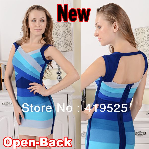 Party bandage dress:http://www.aliexpress.com/store/product/Free-Shipping-Sexy-Bodycon-Ombre-Open-Back-Gradient-Bandage-Dress-for-Women-H113/419525_1351587923.html