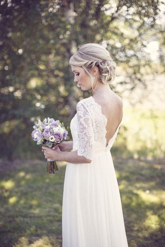 Brautkleid Spitze Vintage Brautkleider Frisuren Hochzeit Im