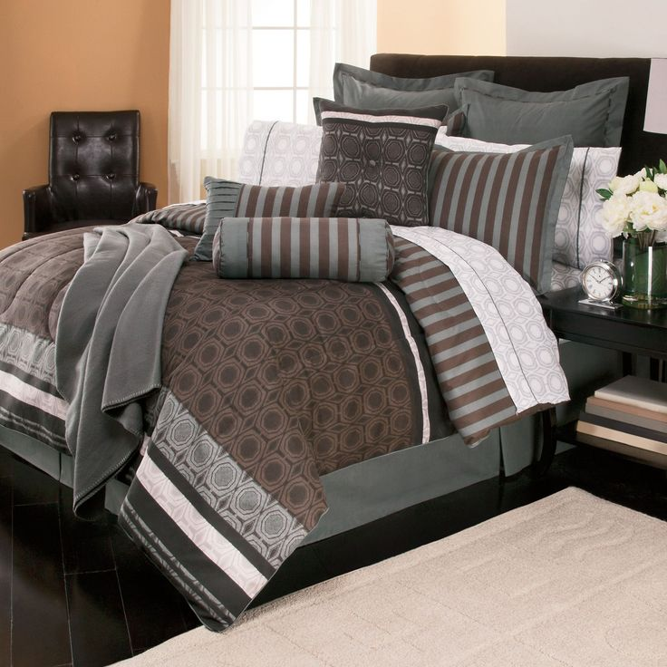 44 Best Brown And Blue Bedding Images On Pinterest