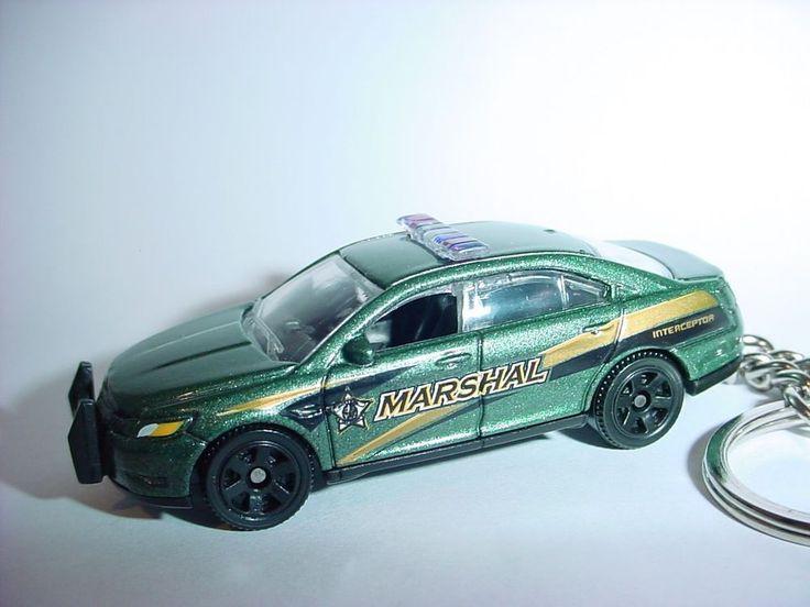 NEW 3D JADE GREEN 2012 FORD TAURUS MARSHAL CUSTOM KEYCHAIN key keyring COP 911 #Unbranded