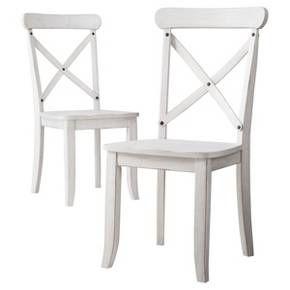 Harvester X Back Dining Chair - Acorn (Set of 2) - Beekman 1802 FarmHouse : Target