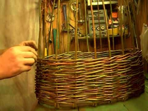 Плетение корзины из лозы - YouTube