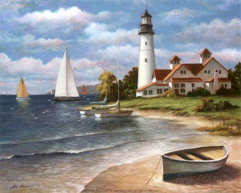 1000 Images About Lighthouses Thomas Kinkade On