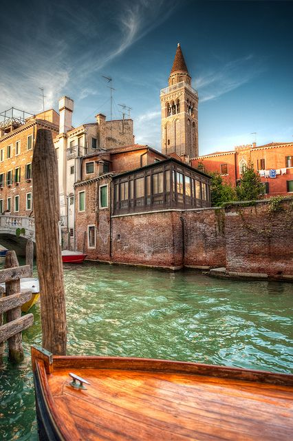"""This picture has me remembering the wooden boats in the Indian Jones' Adventure in his """"Last Crusade"""" while he was in Venice, Italy. Take me away to a dream vacation in Venice #monogramsvacation"""