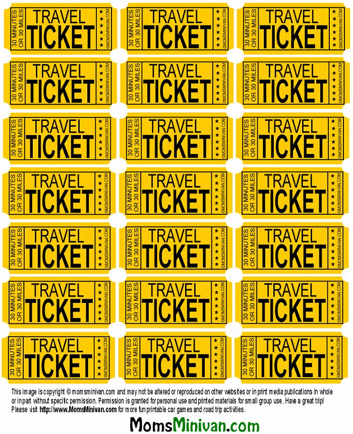 Road Trip relief!  Give kids a bag of Travel Tickets, one for every 30 mis.  Kids turn in 1 ticket for each 30 mis.  Give a prize/treat (think Dollar Store stuff) for so many # tickets, makes trip go faster.  Genius!