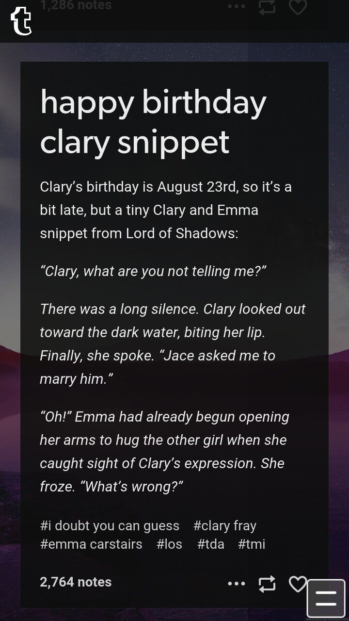 Lord of Shadows snippet Clary