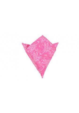 OTAA Paisley Pink Pocket Square