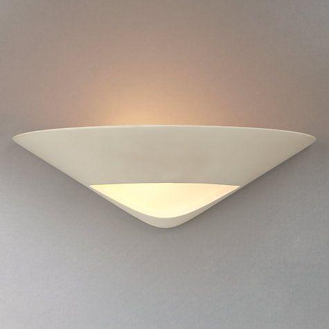 Buy John Lewis Tessa Plaster and Glass Wall Uplighter Online at johnlewis.com