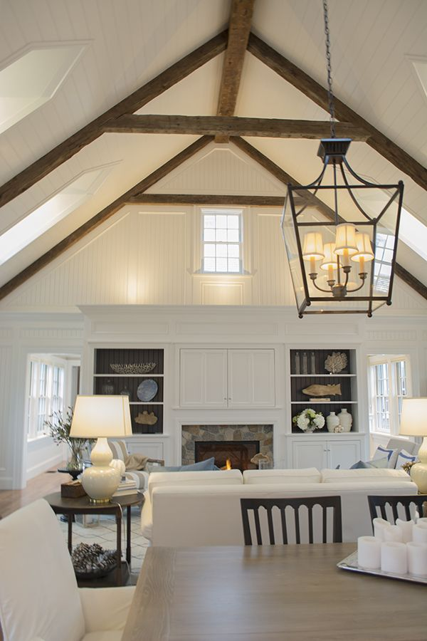 17 best ideas about beam ceilings on pinterest exposed for Vaulted ceiling with exposed trusses