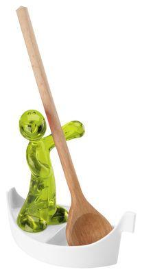 Prezzi e Sconti: #Poggiacucchiaio luigi di koziol verde oliva  ad Euro 21.95 in #Koziol #Cucina utensili da cucina