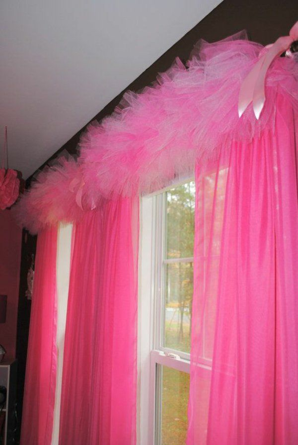 fenstergardinen gardinen dekoration beispiele rosa mit tüll