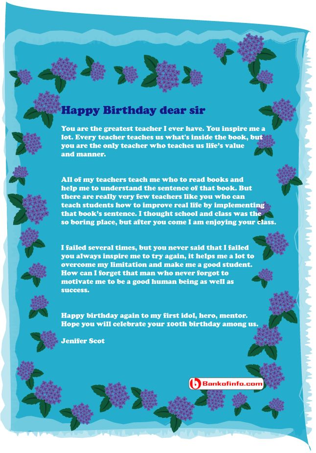happy birthday letter to a teacher 31 best images about letter on letter sample 16142