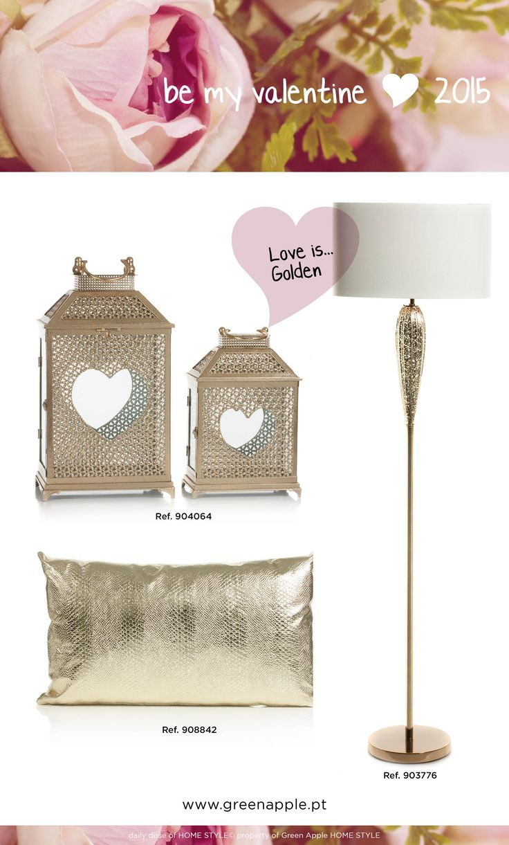 be my valentine <3 2015 #gold #InspiringCollections #GreenAppleHomeStyle