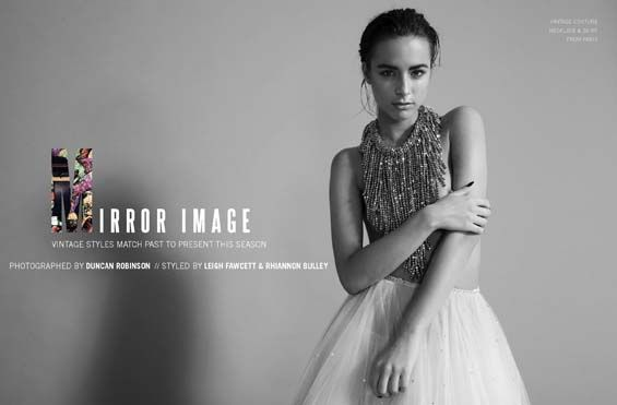 Mirror Image - Kenton Magazine, styled by Bleach PR for MapVintage...