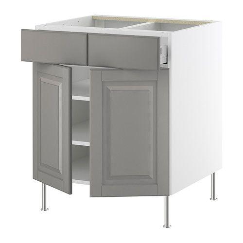 Ideal base cabinets lidi grey ikea new kitchen ideas for Akurum kitchen cabinets