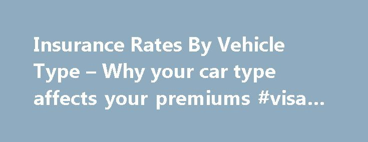 Insurance Rates By Vehicle Type – Why your car type affects your premiums #visa #credit http://insurance.remmont.com/insurance-rates-by-vehicle-type-why-your-car-type-affects-your-premiums-visa-credit/  #vehicle insurance rates # The Connection Between Safety and Affordability Vehicle type is definitely not the only factor related to your vehicle that has a bearing on its insurance cost. Yes, the car or truck's make, model and age are all important factors. But you could price out two 2003…