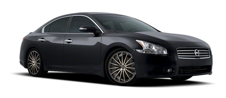 """2013 NISSAN MAXIMA SV ON 18"""" HELO WHEELS HE894 SATIN BLACK W/ MACHINED FACE AND TINTED CLEAR"""