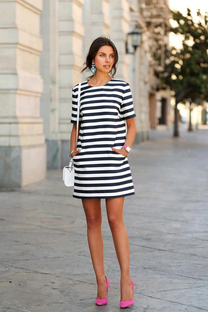 cool Яркое и стильное платье в полоску (50 фото) — Тренд 2017 Читай больше http://avrorra.com/plate-v-polosku-foto/