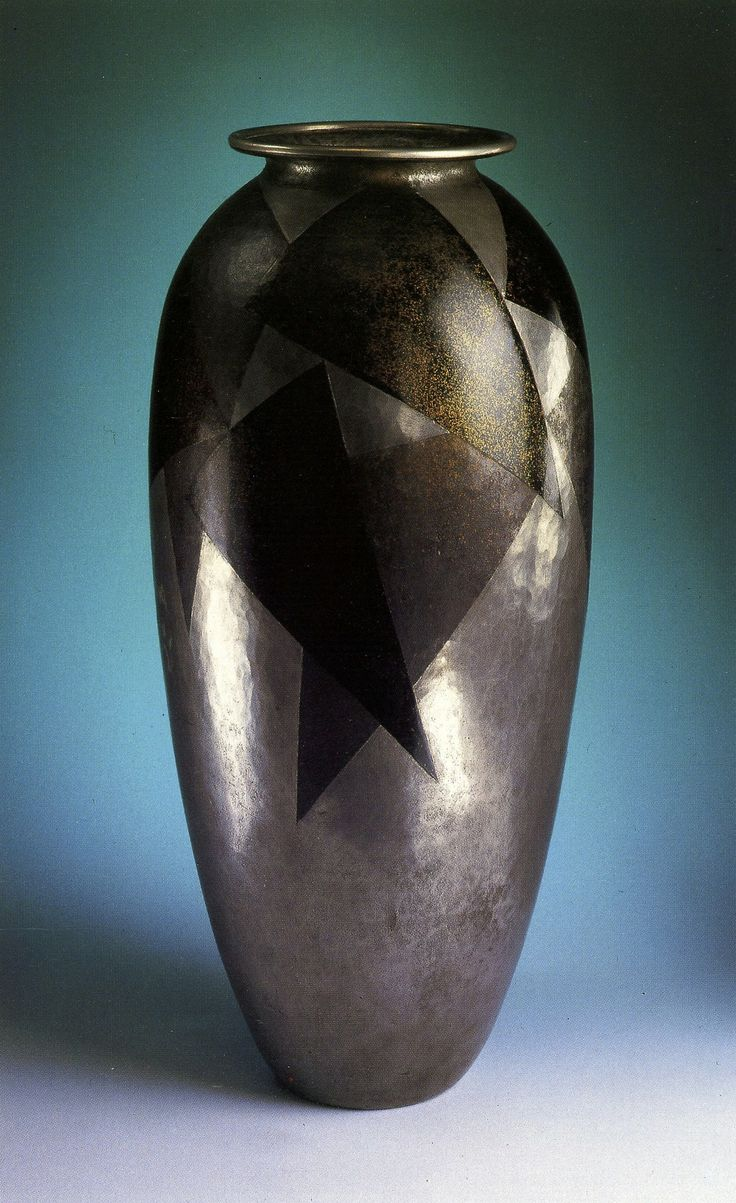 ** Jean Dunand (1877-1942), lacquered-metal vase.