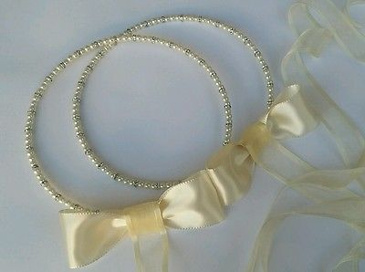 GREEK STEFANA WITH PEARLS  - HANDMADE WEDDING CROWNS / TIARAS / HEADBAND