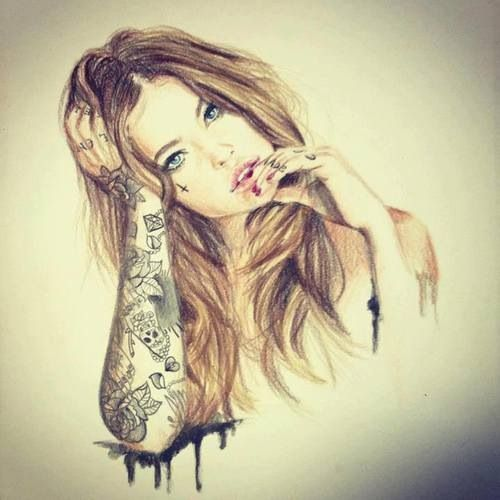 hipster girl drawings tumblr - Google Search i know this ...