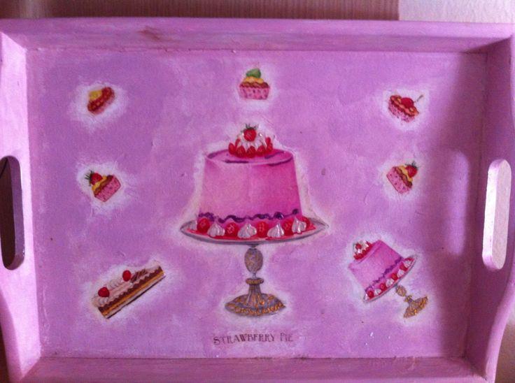 Handmade tray | decoupage #myhope